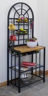 amazon com steel bakers rack wine display dining bar storage
