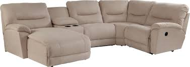 reclining sectional sofas with chaise casual five piece reclining sectional sofa with ras chaise by la z