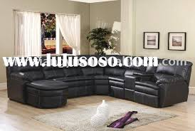 leather sectional sofa with recliner stylish black leather reclining sectional sofa home theater sofa