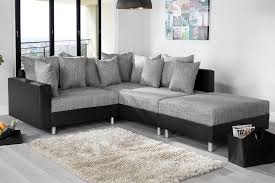 canapé d angle gris et noir canapé d angle modulable loft noir gris