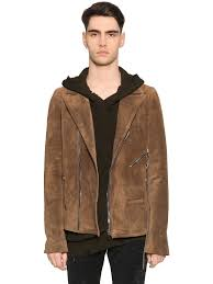biker jacket men rta suede biker jacket brown men clothing leather jackets m65i