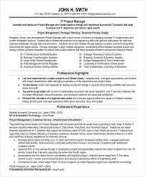 Program Manager Resume Pdf Professional Manager Resume 49 Free Word Pdf Documents