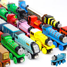 10pcs thomas train wooden toys children thomas friends