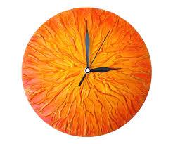unusual wall clocks white clock orange clocku0027 unique wall