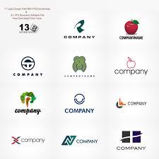 set of 11 free logo design templates age themes