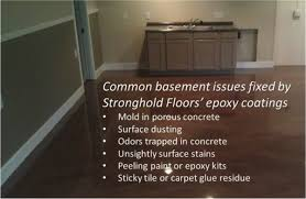epoxy floor coatings create a mold proof basement floor