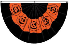 amazon com pumpkin halloween bunting flag outdoor flags