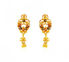 design of earrings gold indian design meena gold earrings ajer60993 22k gold indian