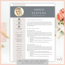 Creative Resume Templates Pinterest Creative Resume Template Cv Template For Ms Word Etsy Resume
