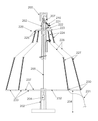 patent us8678615 light strand tree for flagpole