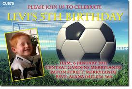 cu670 boys soccer birthday mens birthday invitations