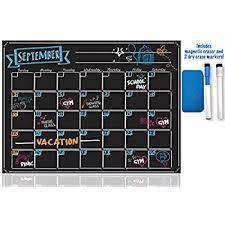 amazon com immuson chalkboard calendar magnetic dry erase board