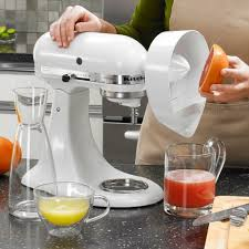 Kitchen Aid Ice Cream Maker Attachment by Kitchenaid Je Citrus Juicer Attachment For Kitchenaid Stand Mixers