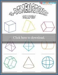 worksheet for identifying 3 dimensional shapes lovetoknow