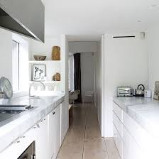 white galley kitchen ideas galley kitchen design ideas ideal home