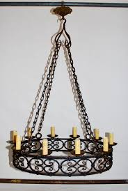 Antique Iron Chandeliers Large Wrought Iron Chandelier U2013 Tendr Me