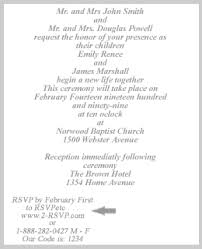 wedding invitation exles rsvp wedding planning service