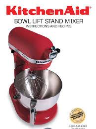 kitchenaid mixer manual u0026 recipe mixer cooking cakes