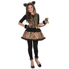 halloween city costumes sassy spots leopard fancy dress girls costume witches cat