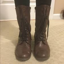 target womens boots mossimo 40 mossimo supply co shoes target brown combat boots from