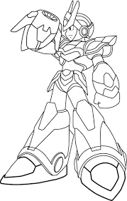 megaman x coloring pages