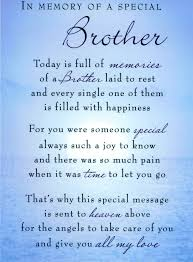 death of a brother poems in memory of a special brother today