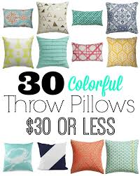 Where To Buy Home Decor Cheap 30 Colorful Pillows For 30 Or Less