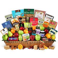 gourmet basket signature series fruit and gourmet gift basket by