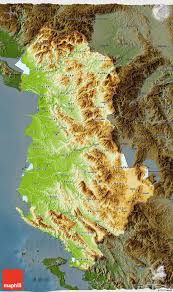 Physical Map Of Greece by Physical 3d Map Of Albania Darken