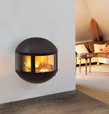 Small Gas Fireplace For Bedroom Wood Burning Fireplace Contemporary Closed Hearth 3 Sided
