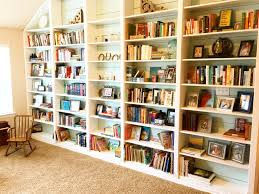 recently finished building new built in bookshelves bookshelf