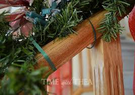 Banister Decorations For Christmas How To Decorate A Banister For Christmas Time With Thea