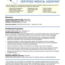 Resume Template Medical Assistant Cover Letter Resume Example For Medical Assistant Sample Resume