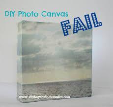 diy decor fails craft diy photo canvas fail the happier homemaker