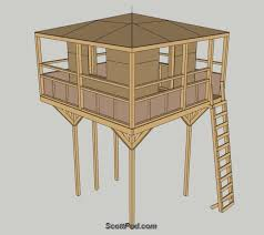 Backyard Clubhouse Plans by Scottpod Com Stilt Elevated Playhouse Plans This Is The One
