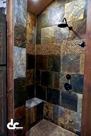 Bathroom Tiled Showers Ideas by Best 25 Rustic Shower Ideas Only On Pinterest Cabin Bathrooms