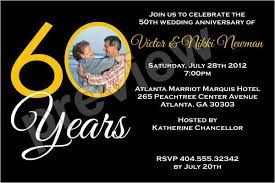 60 years anniversary 60 years 60th wedding anniversary photo invitation personalized