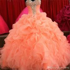 coral quince dress 2018 coral quinceanera dresses floral beaded sweetheart princess