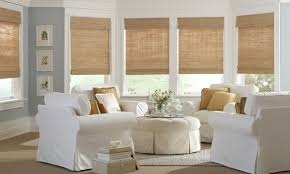 Blackout Cordless Roman Shade Woven Woods U0026 Bamboo Shades In Vermont Gordon U0027s Window Decor