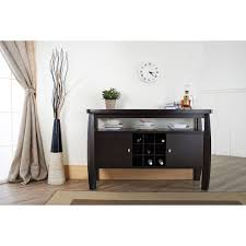 modern buffet table furniture of america vera contemporary multi storage buffet table