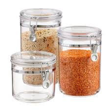 kitchen canisters and jars canisters canister sets kitchen canisters u0026 glass canisters