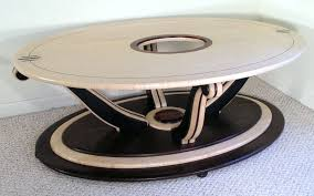 hand crafted neo deco coffee table by louis fry craftsman in wood