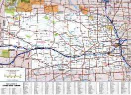 Map Of United States With Cities by Large Detailed Roads And Highways Map Of Nebraska State With All