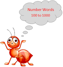 number words 100 to 1000 reading and writing the number in words
