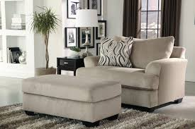 Leather And Fabric Armchair Ottoman Astonishing Superb Oversized Chair And Half For Home