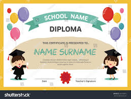 graduation certificate template for kids recommendation letter