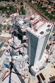 frank gehry designed tower takes shape at luma arles in france frank gehry luma arles an aerial view of the tower under construction
