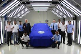 volkswagen pune vw ameo teased at the pune manufacturing plant