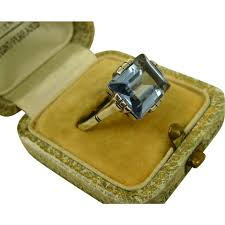fine art deco french silver u0026 sky blue topaz ring c1930 sold on