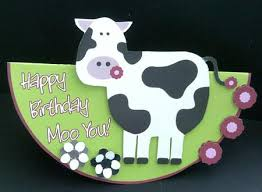 Cow Birthday Card Cute Cow Birthday Card Cup169541 910 Craftsuprint